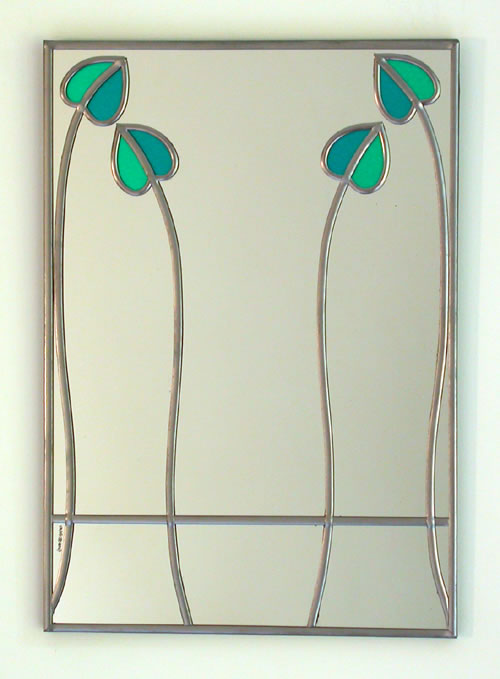 Mackintosh Mirror - two bud rectangular
