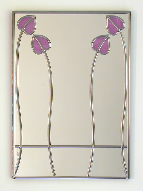 Mackintosh Mirror MArbled Liliac