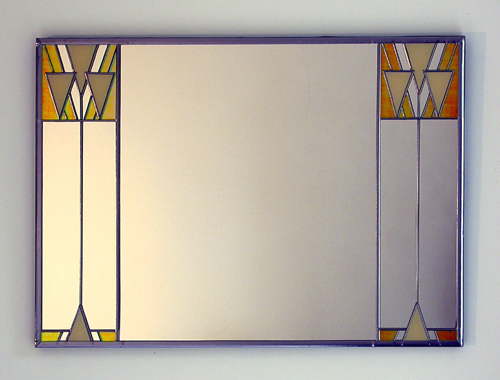Mackintosh 'Triangles' Ivory and Irridescent Gold