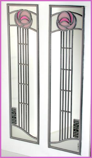 Mackintosh Mirrors Matching Pair Designs